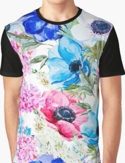Colorful Springtime Flowers Graphic T-Shirt