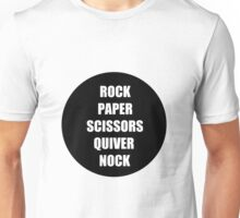Rock Paper Scissors Quiver Nock Unisex T-Shirt