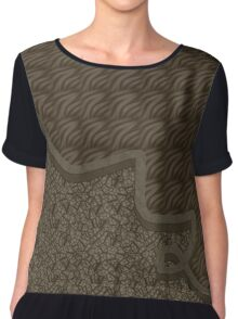 Brown abstract patterns Chiffon Top