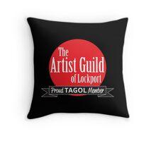 Proud TAGOL Member Insignia - Black Background Throw Pillow