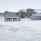 Frosty Coolamine Homestead, Kosciuszko National Park, New South Wales, Australia by Michael Boniwell