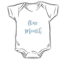 One Month Old (Boy) One Piece - Short Sleeve