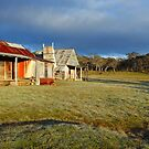 Morning Light finds Coolamine Homestead, Kosciuszko National Park, New South Wales, Australia by Michael Boniwell