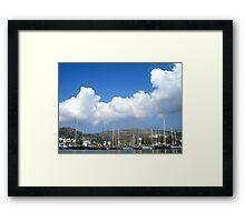 blue sky sea bodrum Framed Print