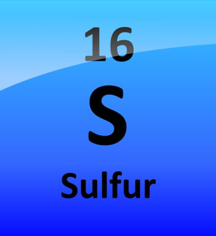 Sulfur Element Tile - Periodic Table Sticker