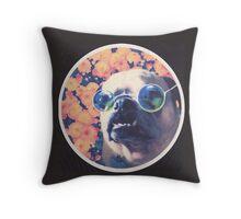 The Grooviest Pug on Earth Throw Pillow
