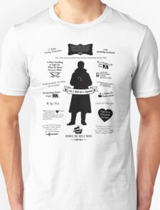 "Captain Hook ""Iconic Quotes"" Silhouette Design Unisex T-Shirt"