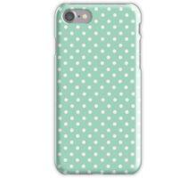 Dots on Aqua Classic Simple iPhone Case/Skin