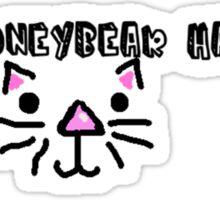 leaf coneybear has cats Sticker
