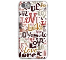Vintage Love Typography  iPhone Case/Skin