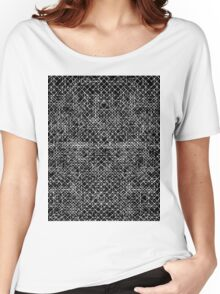 Cyrkiit Black and White Women's Relaxed Fit T-Shirt