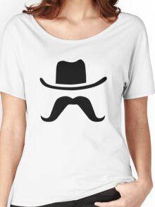 Cowboy Hat & Mustache Women's Relaxed Fit T-Shirt