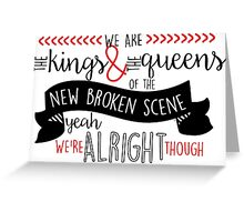 New Broken Scene Greeting Card