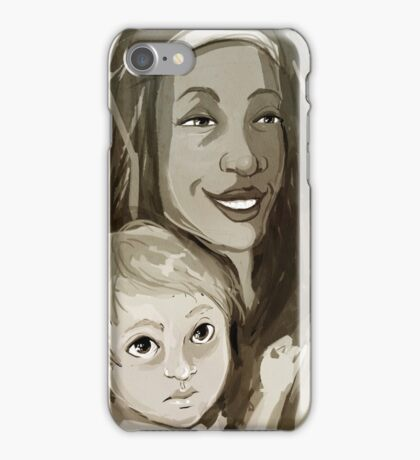 Speedpaint - Michonne and Judith iPhone Case/Skin