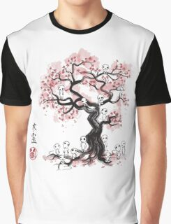Forest Spirit Sumi-e Graphic T-Shirt