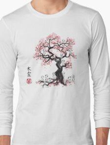 Forest Spirit Sumi-e Long Sleeve T-Shirt