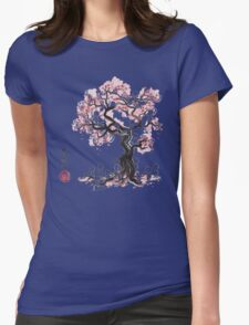 Forest Spirit Sumi-e Womens Fitted T-Shirt