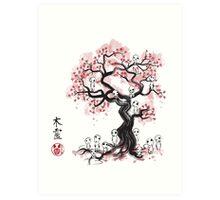 Forest Spirit Sumi-e Art Print