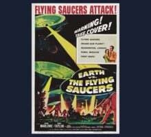 Earth vs. The Flying Saucers Kids Tee