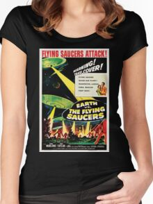Earth vs. The Flying Saucers Women's Fitted Scoop T-Shirt