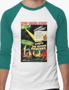 Earth vs. The Flying Saucers Men's Baseball ¾ T-Shirt