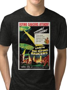 Earth vs. The Flying Saucers Tri-blend T-Shirt