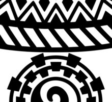 Southwestern Native American Pottery, Modern Minimalist Design Sticker