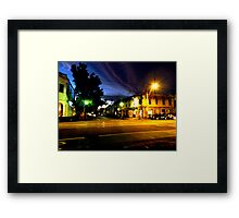 Brunswisk and Kerr Side By Night Framed Print