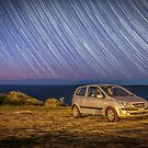 Star trails with my little car by Chris Brunton