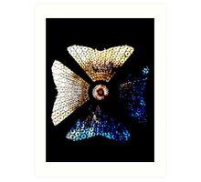 Two Butterflies, One Head Art Print