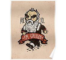 Galileo - Vintage Beard Poster