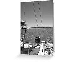 Sailing in Monkey Mia, Shark Bay Greeting Card