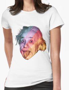 Pop Einstein Womens Fitted T-Shirt