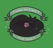 Snakes are Friends - Not Fangs One Piece - Short Sleeve