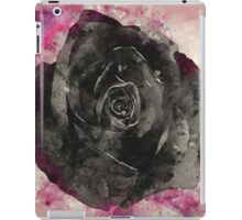 Watercolor Black Rose iPad Case/Skin