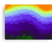 Sunset  Over Water IPhone Case Canvas Print