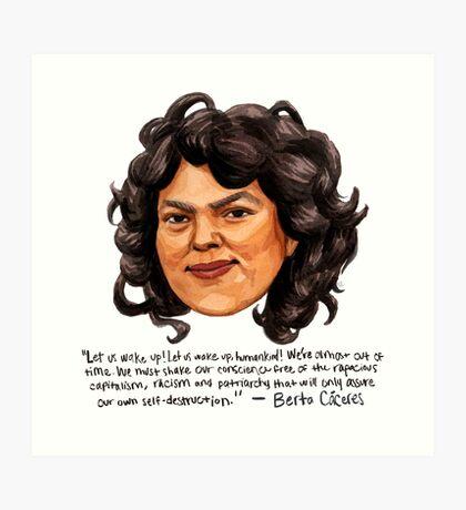 Berta Cáceres Art Print