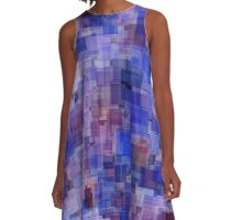 Pixel palette blue duck A-Line Dress