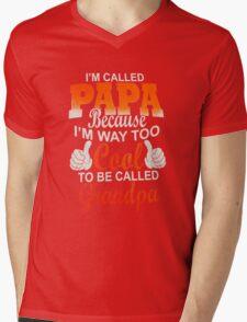Papa Ever Mens Mens V-Neck T-Shirt