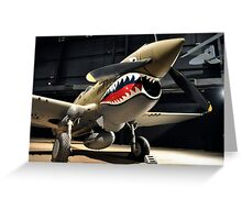 Tiger Shark Airplane WWII  Greeting Card