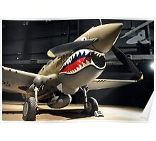 Tiger Shark Airplane WWII  Poster
