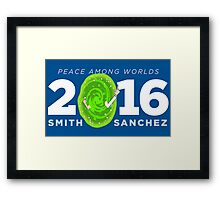Rick and Morty 2016 shirt hoodie bumper sticker Framed Print