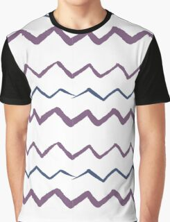 Hand drawn Zigzag pattern Graphic T-Shirt