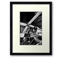 Black and White Silver Propellers  Framed Print