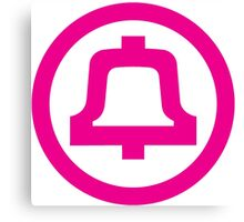 Bell Telephone Logo - Pink Canvas Print