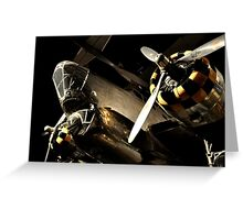 Beautiful Plane black and gold  Greeting Card