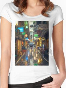 Rainy Day in Bohemian Melbourne Women's Fitted Scoop T-Shirt