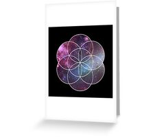 Cosmic Seed of Life Greeting Card