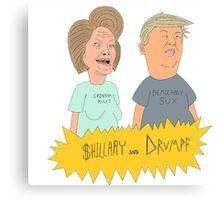 $hillary and Drumpf Canvas Print