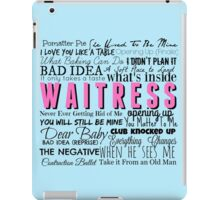Waitress Original Cast Recording iPad Case/Skin